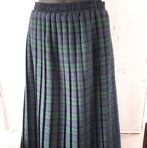 Carroll Reed Skirts - Carroll Reed Green Tartan Skirt Small